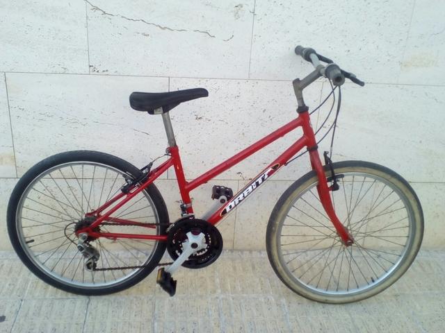 Cuadro Acero Bicicleta BTT de monta/ña para Mujer 18 velocidades Frenos V-Brake Orbita Alfa 26