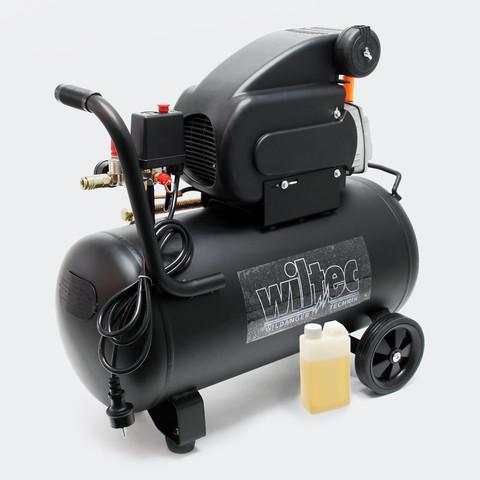 -Compresor Aire 50 L 8 Bar Y Ruedas