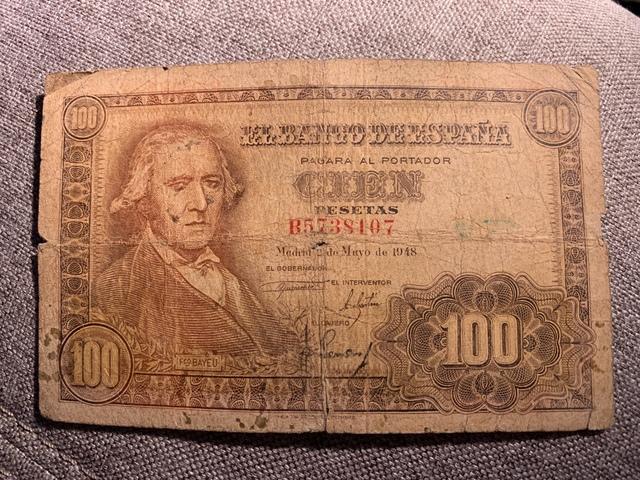 100 Pesetas 1948, Fco. Bayeu