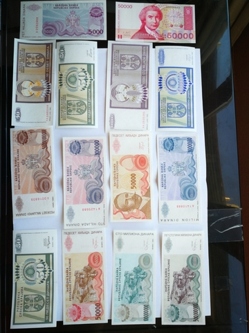 Billetes De Bosnia Croacia. 14 Billetes,