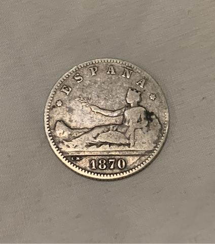 Moneda 1 Peseta 1870