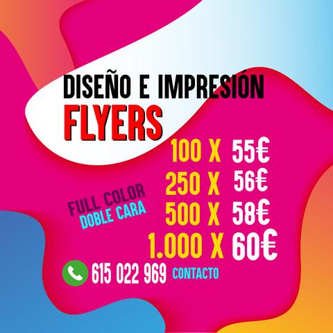 IMPRESIÓN DE FLYERS Y DISEÑO - foto 1