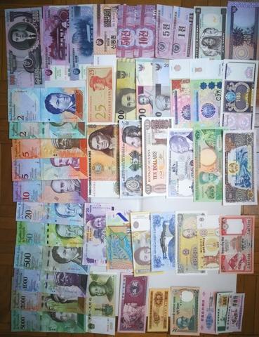 Lote De 100 Billetes Extranjeros. Todos