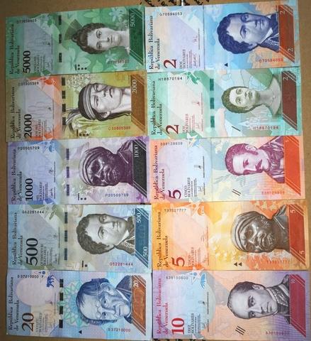 Venezuela Set 10 Billetes Distintos. Sc