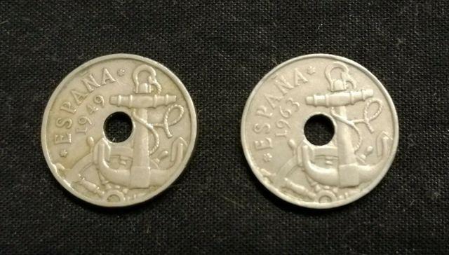 Lote 2 Monedas España 50 Cts Franco 1949