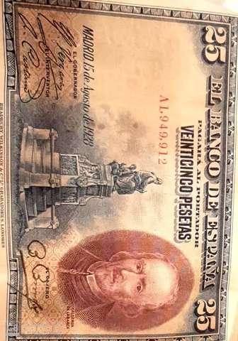 25 Pesetas Año 1928