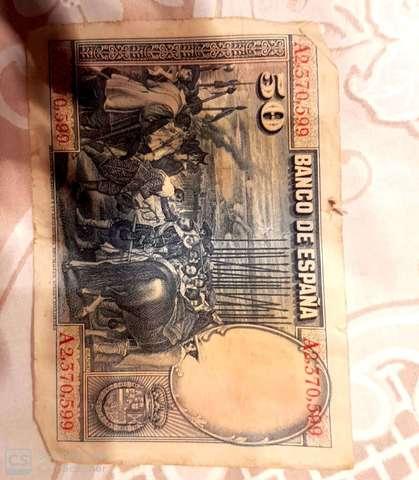 50 Pesetas Año 1928