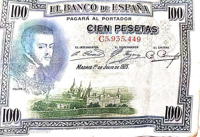 100 Pesetas Año 1925 Serie C