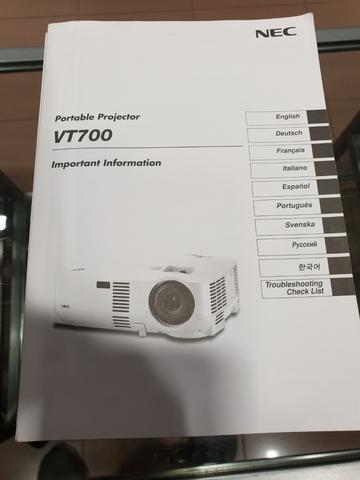 PROYECTOR NEC VT 700 - foto 6