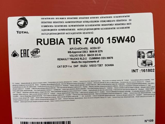 20L TOTAL RUBIA TIR 7400 15W40 E7 - foto 2