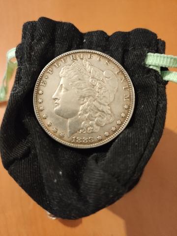 Moneda De Plata Morgan 1883