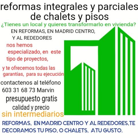 REFORMAS INTEGRALES EN MADRID - foto 1