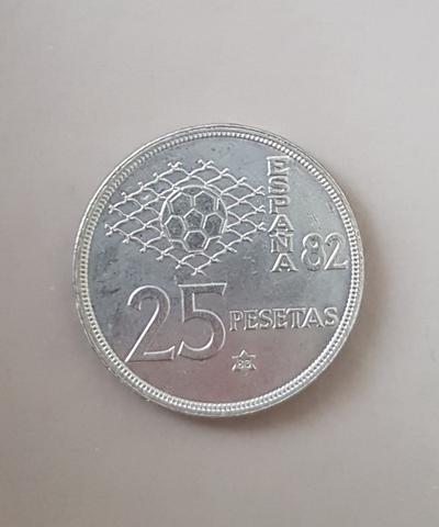 Moneda 25 Pesetas España  82