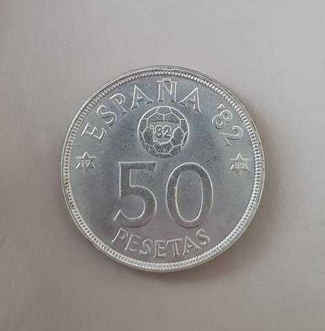 Moneda 50 Pesetas España 82