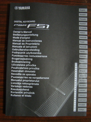 MANUAL DE INSTRUCCIONES YAMAHA PSR-F51 - foto 1