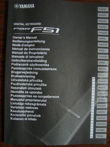 MANUAL DE INSTRUCCIONES YAMAHA PSR-F51 - foto 2