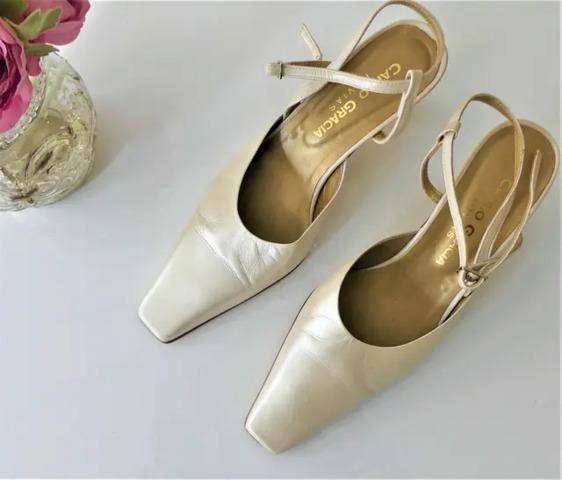 MIL ANUNCIOS.COM Zapatos tacon blancos talla 37 Segunda