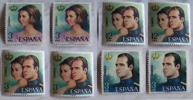 Lote De Sellos Reyes De España