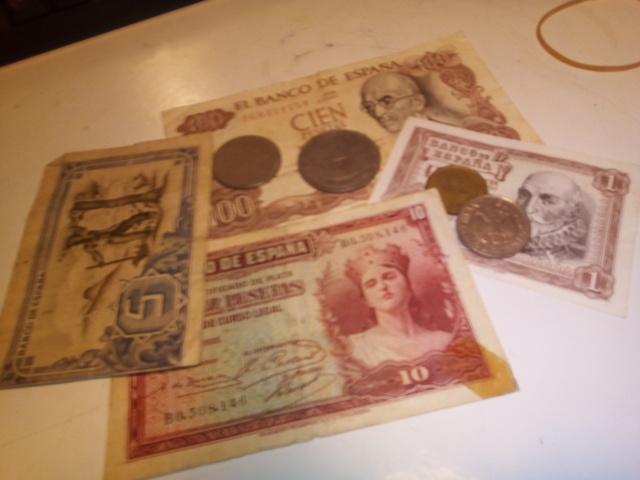 Lote Monedas Billetes Antiguos