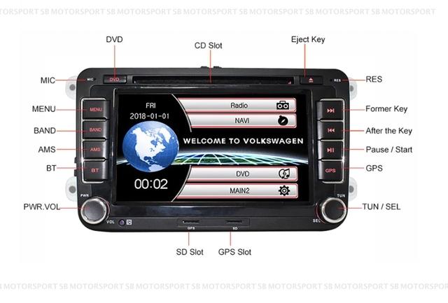 Sensor de aparcamiento PDC ayuda para aparcar delante interior VW t5 Transporter Multivan hasta año 11//2009