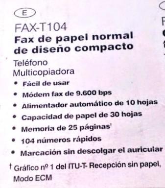 FAX MULTICOPIADORA BROTHER T-104 - foto 5