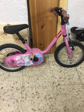 Bicicleta Para Niña Rosa 14 Pulgadas