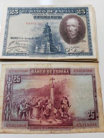 Lote 16 Billetes De 25 Pesetas 1928