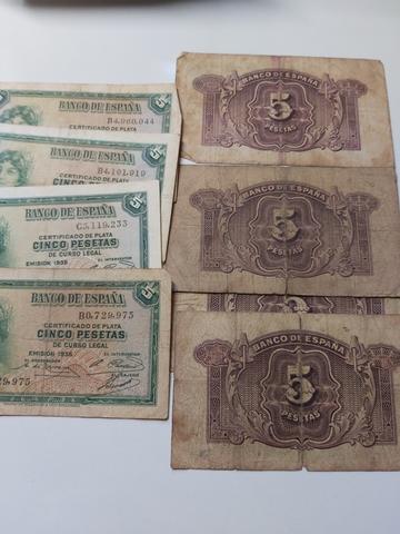 8 Billetes De 5 Pesetas 1935