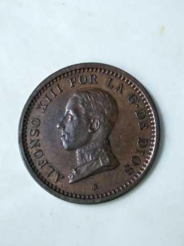 Moneda 2 Centimos 1911 Alfonso Xiii