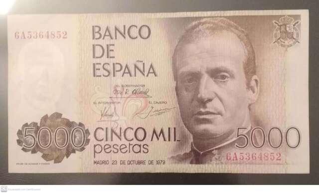 Billete De 5000 Pesetas 1979
