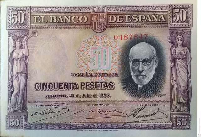 50 Pesetas 1935 Sin Circular-