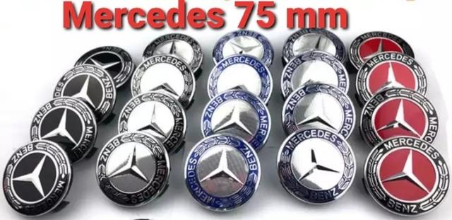 """4x tapacubos quad bicolor plata negro 17/"""" para todos los automóviles excepto bus para 17/"""""""