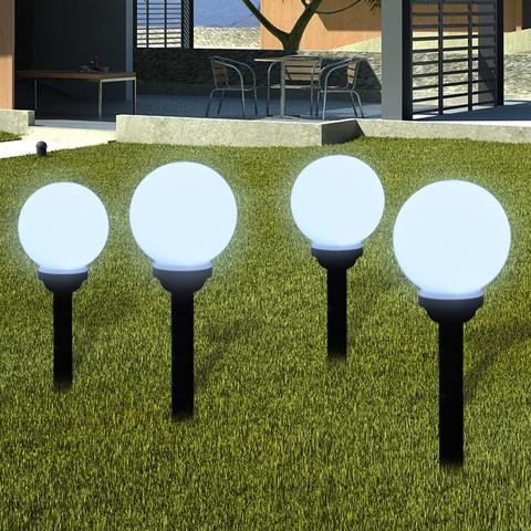 vidaXL 12x L/ámparas Estacas Solares LED de Jard/ín en Forma de Piedra Luz Patio