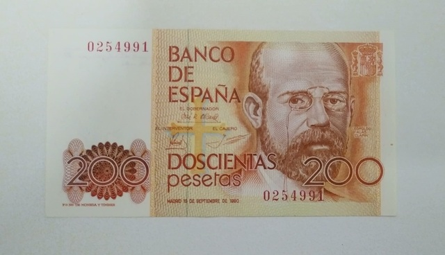 Billete 200 Pesetas 1980 Clarin