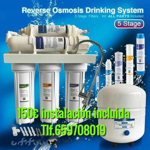 3 etapas Filtro De Osmosis Inversa unidad Acuáticas Pescado 50 75 100 180 GPD RO