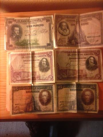 Lote De 6 Billetes 1925-1928