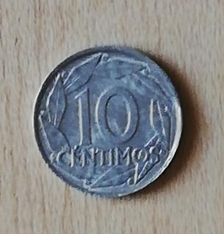 Moneda De 10 Cts. Estado Español Error