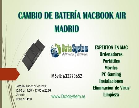 CAMBIO DE BATERÍA MACBOOK AIR MADRID - foto 1