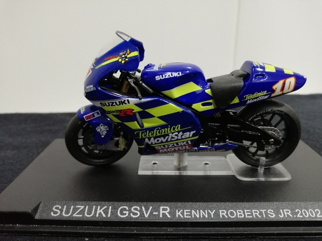 Suzuki GSX-R 1000 azul escala 1:24 moto modelo de los atlas-Cast