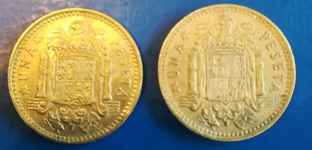 Moneda 1 Peseta España 1966 Franco