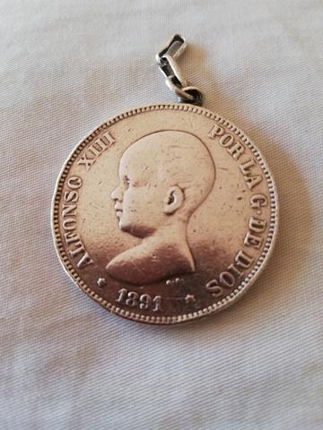 Moneda Plata Alfonso Xiii Del 1891