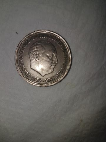 Moneda Española  50 Pesetas  1957 Franco