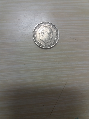Moneda 5 Pesetas Francisco Franco 1957