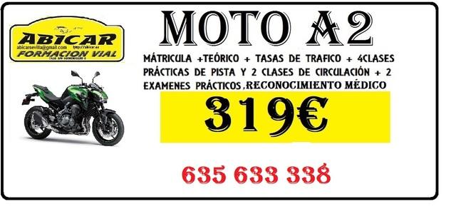 CARNET DE MOTO A2/PERMISO DE MOTOCICLETA - foto 1