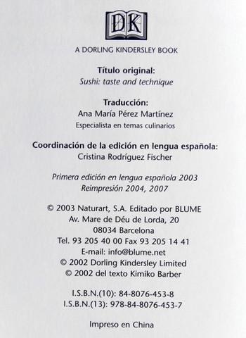 LIBRO SUSHI TÉCNICA Y SABOR MADRID - foto 3