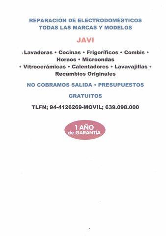 REPARACION DE ELECTRODOMESTICOS JAVI - foto 1