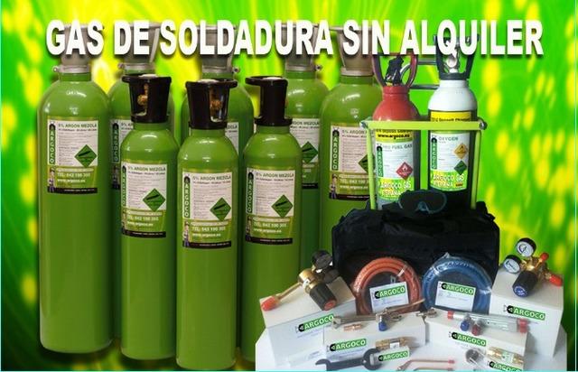 Botellas De Gas De Soldar Sin Contrato