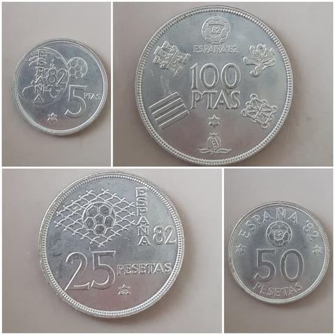 Lote De 5 Monedas Mundial España\\\\\\\\