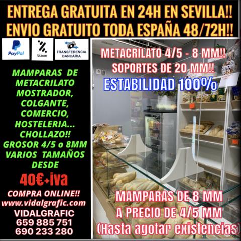 MAMPARA METACRILATO DE 8 MM!! 40EUR+IVA - foto 1