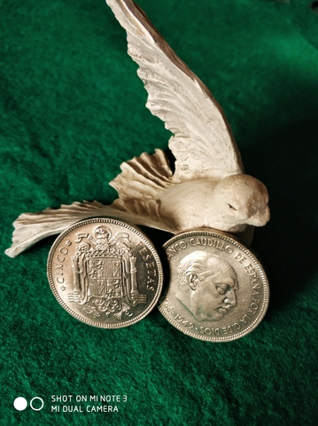 Moneda De 5 Pesetas De Franco